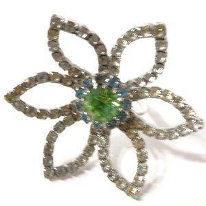 Joomi Lim Cut Out Flower Crystal Ring Sz 8